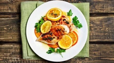 marinated chicken with orange